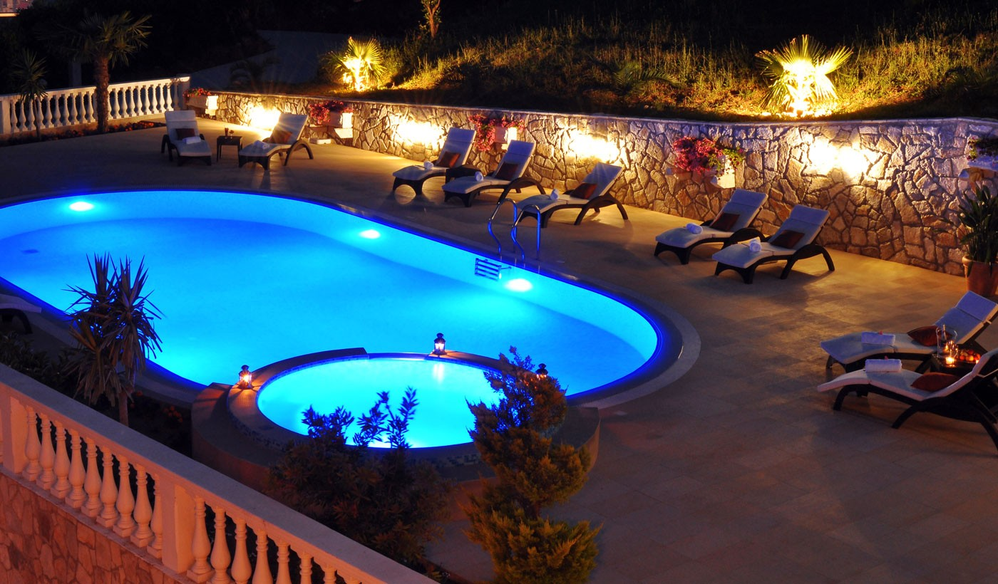 Beautiful nights beside pool